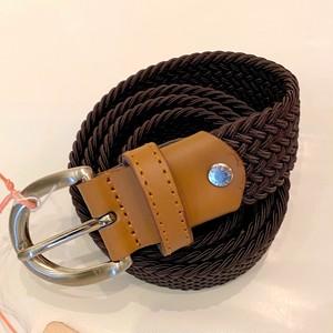 30MM ELASTIC MESH BELT Moka Brown / Moro Leather