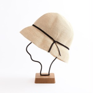 mature ha./paper braid light hat short/natural×black