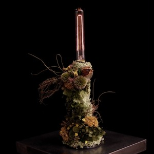 hydrangea green&mosgreen lamp