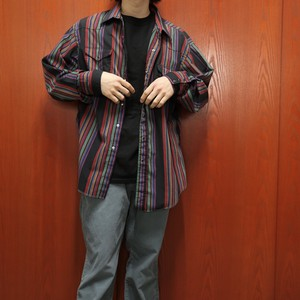 "Wrangler L/S cotton western shirts ""random stripe"""