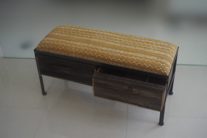 品番UAY2-105  2drawer ottoman[narrow/African yellow]