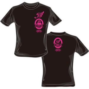 【50%OFF】ハヤブサ×串猿 コラボレーションTシャツ (黒body×ピンクprint)