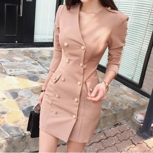 ダブルボタンタイトドレス A1559