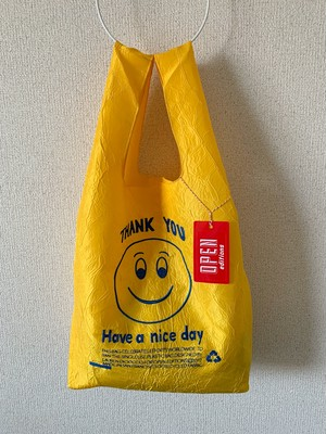 【OPEN EDITIONS / 送料無料】THANK YOU TOTE エコバッグ/ SMILE Yellow