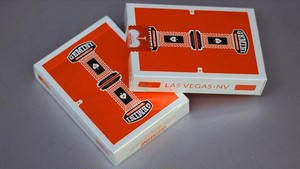 Gemini Casino Orange Playing Cards by Toomas Pintson