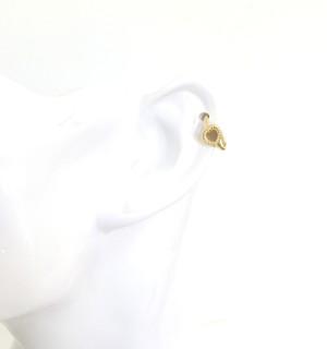 K18 body jewelry #0002 HEART GOLD RING ハートゴールドリングボディピアス/18金イエローゴールド
