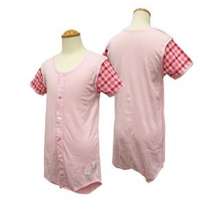 <武庫川女子大学 大森ゼミ×GARAU>女児用 半袖前開き裏縫いロンパース 130,140,150,160cm [型番:800159]