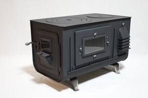要納期確認 新保製作所 角型3面窓付薪ストーブ【FIRESIDE 】