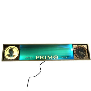 70's PRIMO BEER ILLUMINATED SIGNBOARD CLOCK