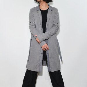 "Leather×Cotton ""Coat"" 〈 Asphalt Grey 〉"
