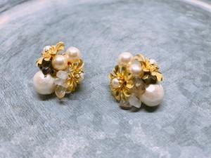 Brass cotton pearl《和の花》
