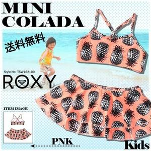 TSW162100 ロキシー 人気ブランド ROXY キッズ 水着 子供用 女の子 スカート ビキニセット 海 プール パイナップル柄 南国 MINI COLADA ROXY