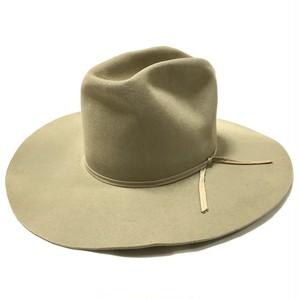 Resistol 3X Vintage Longbrim Beaver Hat Beige 7 1/8