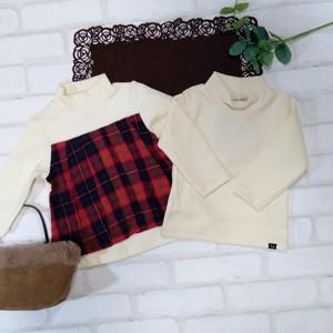 暖か 着る保湿クリーム長袖Tシャツと 暖か チェックカットソーチュニックのセット(白) 双子ベビー服2枚セット  ミックスツイン  <19aw-mt005r-H>