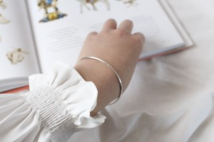 """ties"" slim bangle 【silver】"