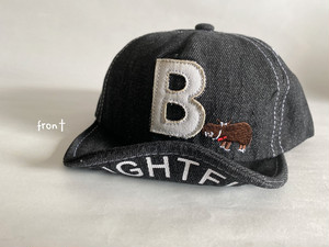 denim B cap(black)