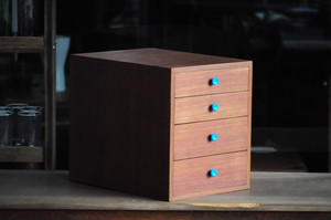 チーク小引き出し Teak Small Drawer 4 Layers