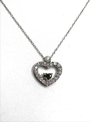 【3日以内返品可】超稀少☆カメレオンダイヤ 0.174ct ダイヤモンド 計0.4ct K18WG ネックレス