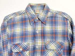 50s FIVE BROTHER ファイブブラザー  マチ付き チェック ネルシャツ フランネルシャツ