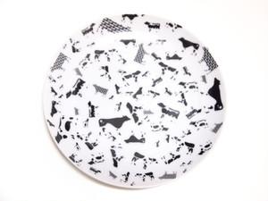 皿小 牛型牛柄