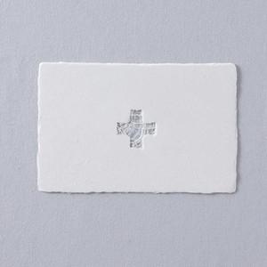 PON04 西島和紙工房 楮 透かしポストカード cross 1枚入