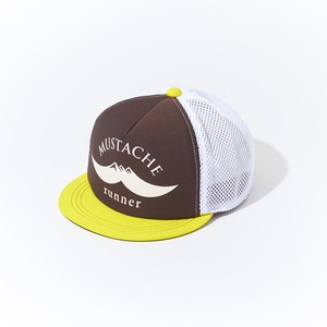 HUNGERKNOCK × Mustache Runner Cap - Brown/White/Yellow
