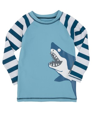SALE Hatley サメ大群 Boy'sラッシュガード(SPF50) Lot's of sharks Rash Guard 40%OFF ¥7,035⇒¥4,200