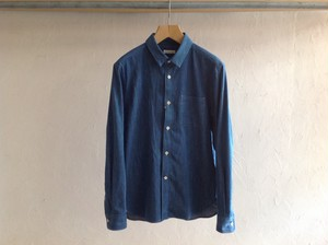 "niuhans""Selvege Denim L/S Shirt Light Indigo"""