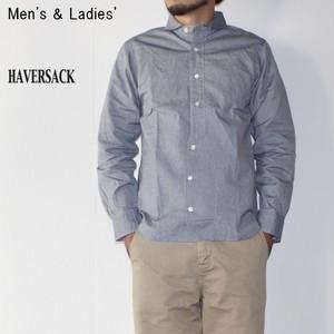 《ラスト1点》 HAVERSACK 丸襟シャツ BASIC SHIRTS 4212734 (BLUE)
