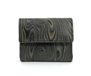 MAGNET Three Fold Compact Wallet Wood Black