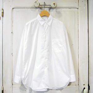 CIOTA women's スビンコットンタイプライターレギュラーカラーシャツ - WHITE