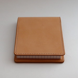 Leather memo case