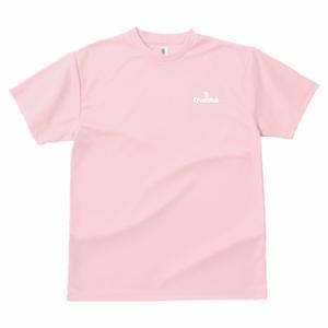 GLIMMER ドライTシャツ ワンポイント(ライトピンク)