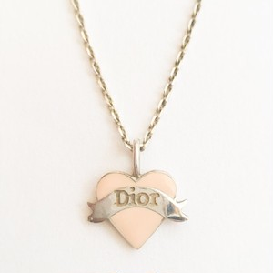 """Dior"" 925 heart necklace[n-235]"