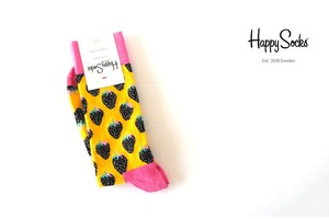 ハッピーソックス|happy socks|クルー丈カジュアルソックス|ストロベリーソックス|STRAWBERRY SOCK