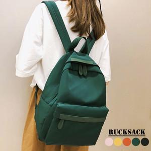 リュックサック レディースバッグ サイドポケット 韓国ファッション 無地 男女兼用 通勤通学