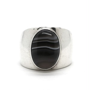 60's Vintage Sterling Silver Mexican Agate Ring