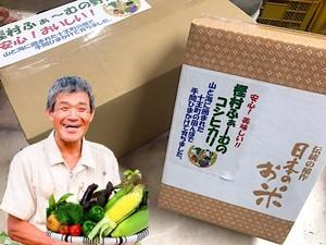 旬の野菜お任せBOX +コシヒカリ2キロ