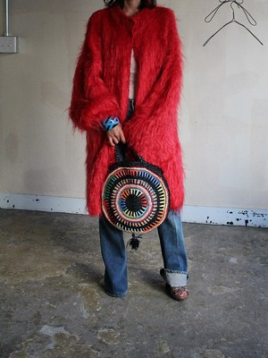 80s mohair knit coat