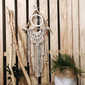 driftwood × macrame dreamcatcher