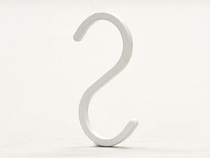 角型S字フック5本セット(WH):NO.111WH