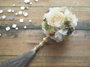 Tassel boule de fleurs<Gris Nature> * タッセルフラワーボール