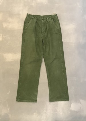 Swedish Army 1-Tuck Cotton Pants [N-199]