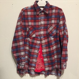 【OLD PARK】DARTS SHIRT FLANNEL OP-158 [RED]