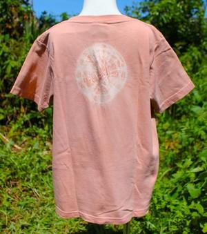 草木染、梅の木め、綿100%Tシャツ 子供用 セール価格