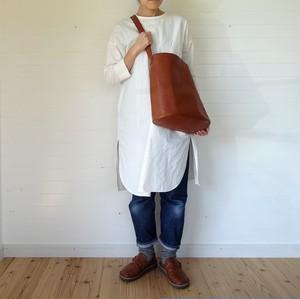 シンプルバッグ(大)茶×ライトブルーグレー 78cm