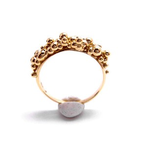 martine 華やかでボリュームたっぷりのゴールドリング/指輪 【K18ゴールド】