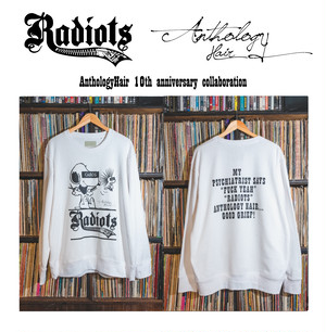[予約] RADIOTS×AnthologyHair  L/S SWEAT / White...
