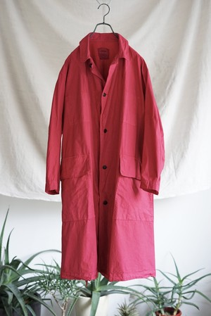 Chez VIDALENC - Trench Coat with Flap (1950's red)