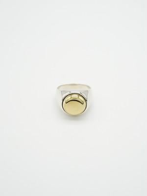 wide combination ring -round brass-(再入荷)